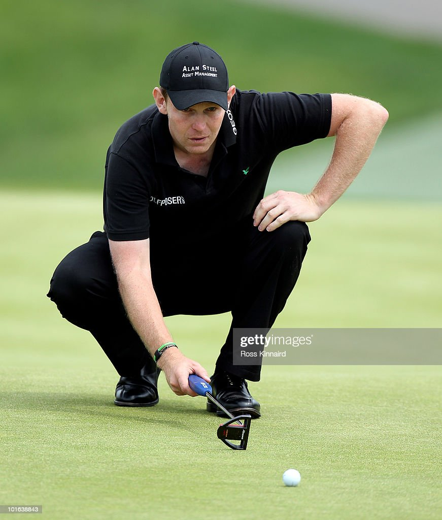 Stephen Gallacher of Scotland during the third round of the Celtic Manor Wales Open on the 2010 Course at the Celtic Manor Resort on June 5, 2010 in Newport, Wales.