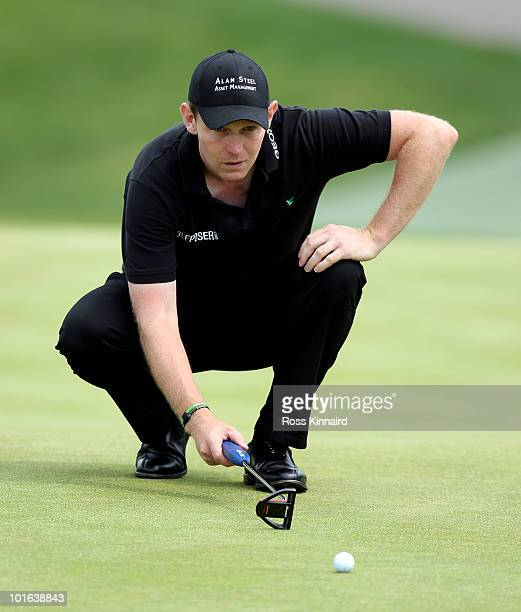 Stephen Gallacher of Scotland during the third round of the Celtic Manor Wales Open on the 2010 Course at the Celtic Manor Resort on June 5, 2010 in...