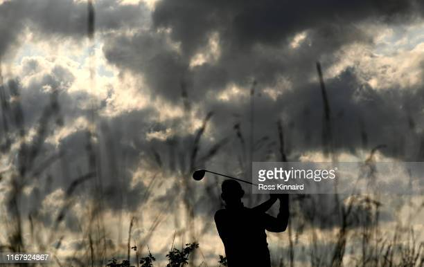 Stephen Gallacher of Scotland in action during the pro-am event prior to the D+D Real Czech Masters at the Albatross Golf Resort on August 14, 2019...