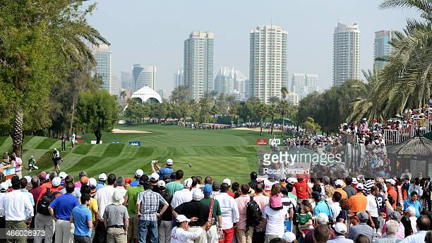 Stephen Gallacher of Scotland on the first tee during the second round of the Omega Dubai Desert Classic on the Majlis Course at the Emirates Golf...