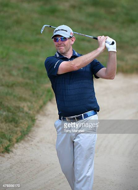 Stephen Gallacher of Scotland plays his second shot on the 11th fairway during the Alstom Open de France Day Two at Le Golf National on July 3 2015...
