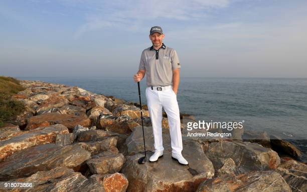 Stephen Gallacher of Scotland poses for a portrait during the Pro Am prior to the start of the NBO Oman Open at Al Mouj Golf on February 14 2018 in...