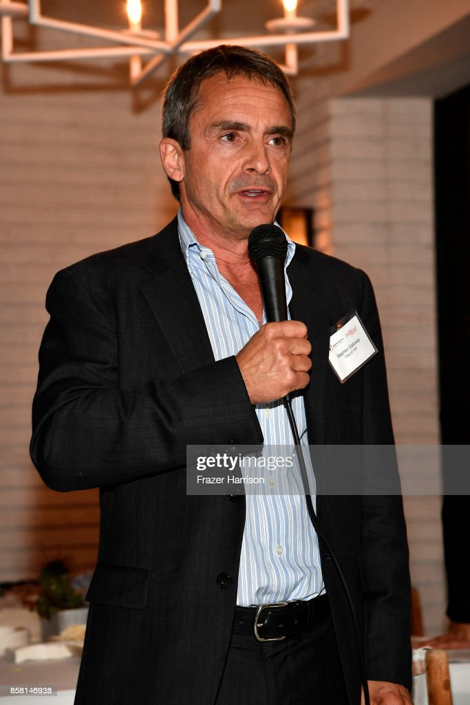 Stephen Galloway, attends BBBSLA And The Hollywood Reporter's Women In Entertainment Mentor Reunion Cocktail Reception at Private Residence on October 5, 2017 in Los Angeles, California.