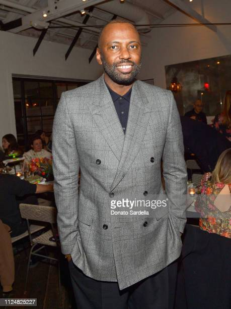 Stephen Galloway attends Liz Goldwyn and MATCHESFASHIONCOM celebrate the launch of Frieze LA at Gracias Madre on February 13 2019 in West Hollywood...