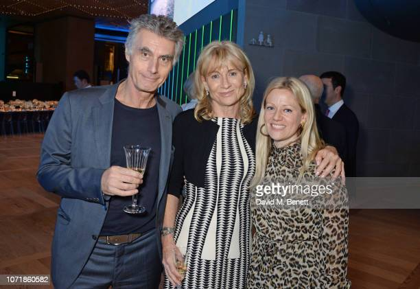Stephen Garrett Lady Alison Myners and Jemma Read attend the Bloomberg x Vanity Fair Climate Exchange gala dinner 2018 at Bloomberg London on...