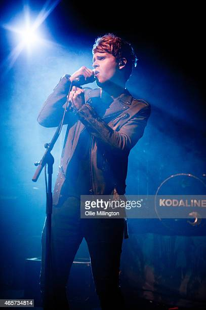 Stephen Garrigan from Kodaline performs on stage during a sold out show at Rock City on March 9, 2015 in Nottingham, United Kingdom.