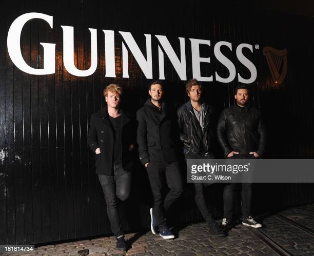 Stephen Garrigan, Jason Boland, Mark Prendergast and Vinny May from Kodaline pose prior to the From The Storehouse With Dermot Whelan show, which...