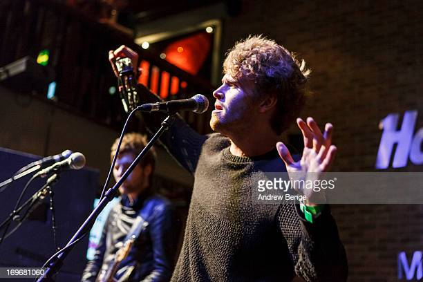 Stephen Garrigan of Kodaline perform for the Absolute Radio Presents the road to Hard Rock Calling session at Hard Rock Cafe on May 30, 2013 in...