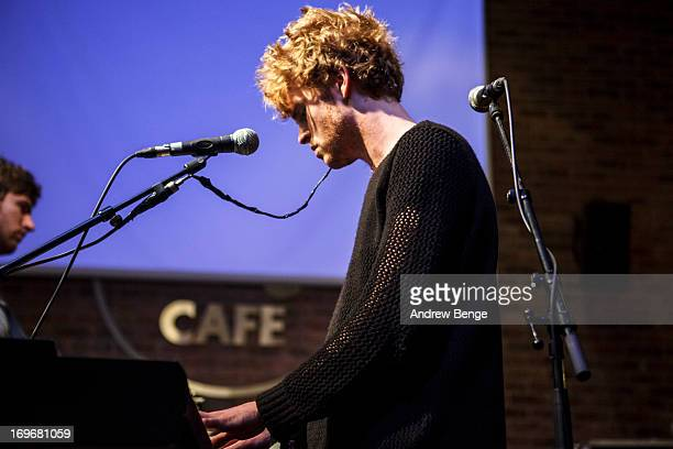 Stephen Garrigan of Kodaline performs at the Hard Rock Cafe in Manchester during sound check for the Absolute Radio Presents the road to Hard Rock...