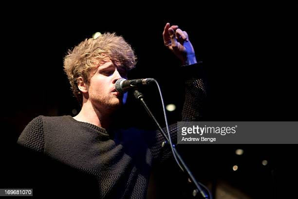 Stephen Garrigan of Kodaline performs for the Absolute Radio Presents the road to Hard Rock Calling session at Hard Rock Cafe on May 30, 2013 in...