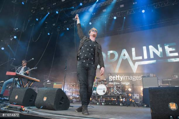 Stephen Garrigan of Kodaline performs on the NOS Alive stage during day 3 of NOS Alive on July 8 2017 in Lisbon Portugal