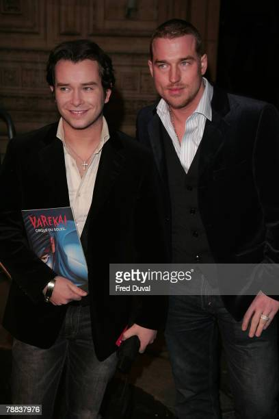 Stephen Gateley and Andrew Cowles attend Cirque du Soleil's 'Varekai' gala performance at The Royal Albert Hall on January 8 2008 in London England