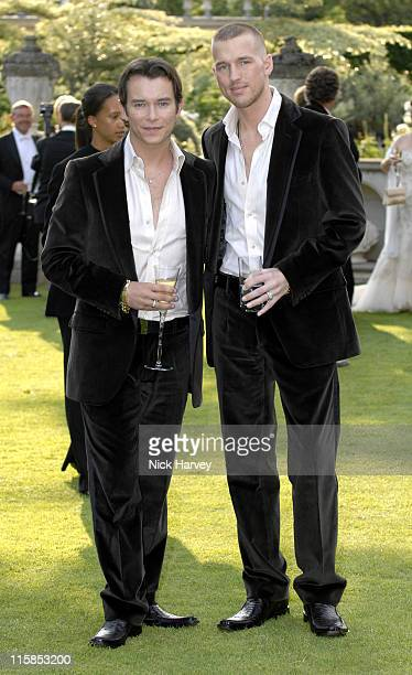 Stephen Gately and Andrew Cowles during The 8th Annual White Tie and Tiara Ball to Benefit the Elton John AIDS Foundation in Association with Chopard...