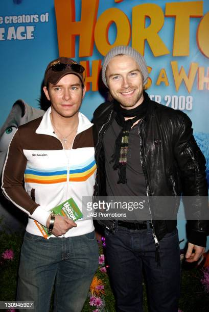 """Stephen Gately and Ronan Keating of Boyzone attend the """"Horton Hears a Who!"""" VIP Screening at the Vue West End on March 2, 2008 in London England."""