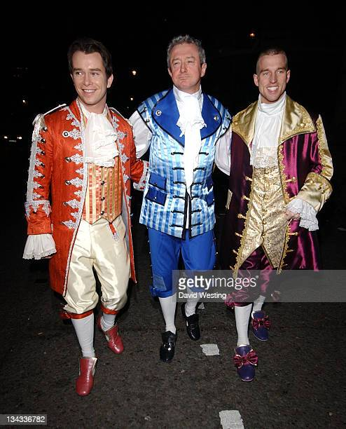 Stephen Gately Louis Walsh and Andrew Cowles during Matt Lucas and Kevin McGee Reception London Photocall at Banqueting House Whitehall Place in...