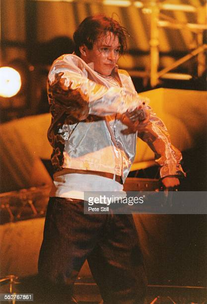 Stephen Gately of Boyzone performs on stage at the National Exhibition Centre, on December 7th, 1996 in Birmingham, England.