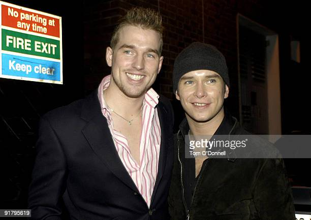 Stephen Gately with his partner Andrew Cowles