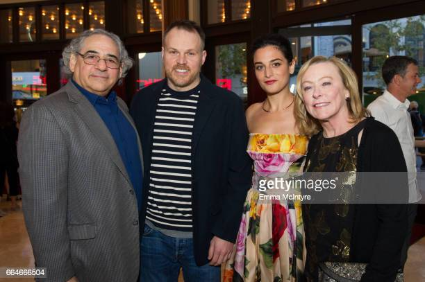 Stephen Gilula Marc Webb Jenny Slate and Nancy Utley arrive at the premiere of Fox Searchlight Pictures' 'Gifted' at Pacific Theaters at the Grove on...