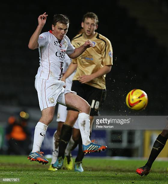 Stephen Gleeson of Milton Keynes Dons in action during the Sky Bet League One match between Milton Keynes Dons and Colchester United at Stadium MK on...