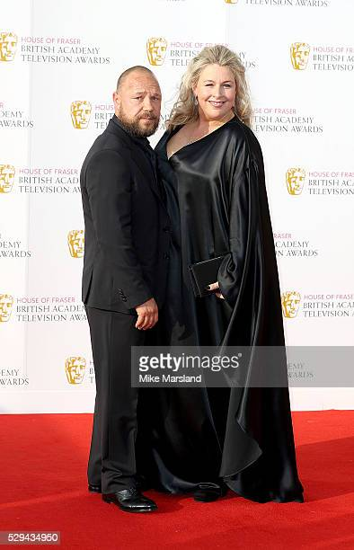 Stephen Graham and Hannah Walters arrive for the House Of Fraser British Academy Television Awards 2016 at the Royal Festival Hall on May 8 2016 in...