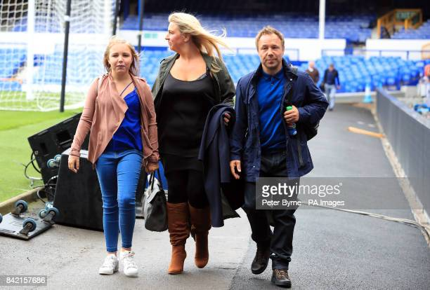 Stephen Graham and Hannah Walters arrives for the Bradley Lowery charity match at Goodison Park Liverpool PRESS ASSOCIATION Photo Picture date Sunday...