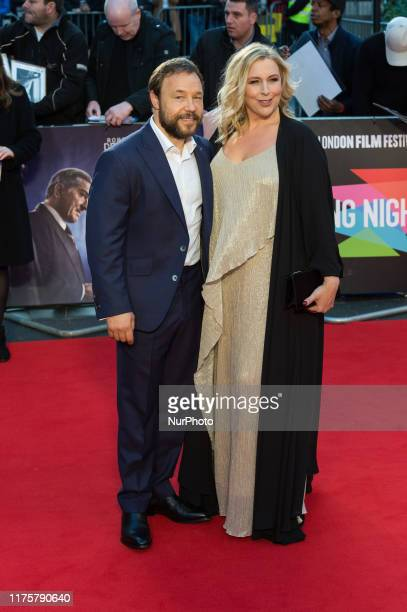 Stephen Graham and Hannah Walters attend the international film premiere of 'The Irishman' at Odeon Luxe Leicester Square during the 63rd BFI London...