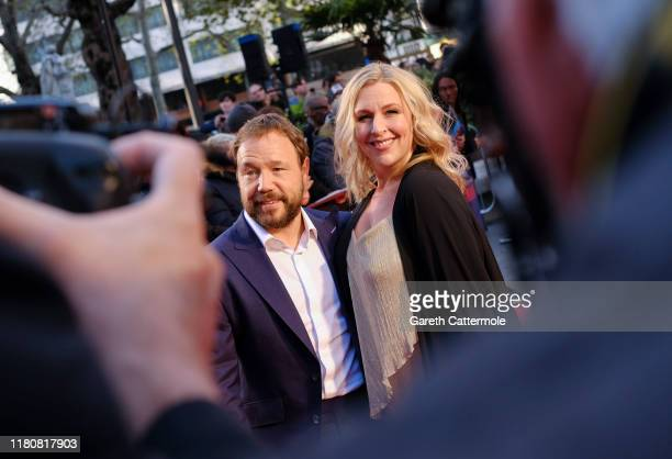 Stephen Graham and Hannah Walters attend The Irishman International Premiere and Closing Gala during the 63rd BFI London Film Festival at the Odeon...