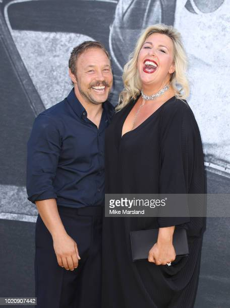 Stephen Graham and Hannah Walters attend the UK premiere of Yardie at BFI Southbank on August 21 2018 in London England
