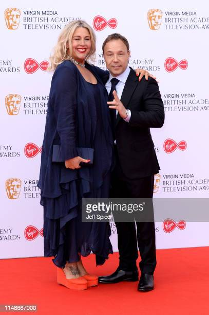 Stephen Graham and Hannah Walters attend the Virgin Media British Academy Television Awards 2019 at The Royal Festival Hall on May 12 2019 in London...