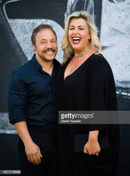 Stephen Graham and Hannah Walters attends the UK premiere of Yardie at BFI Southbank on August 21 2018 in London England