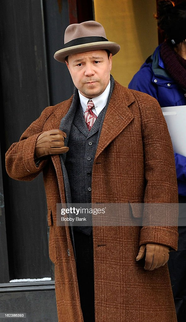 Stephen Graham as 'Al Capone' filming on location for 'Boardwalk Empire' on February 22, 2013 in the Staten Island borough of New York City.