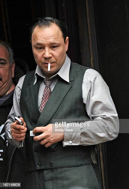 Stephen Graham as 'Al Capone' on location for 'Boardwalk Empire' on February 19 2013 in the Brooklyn borough of New York City