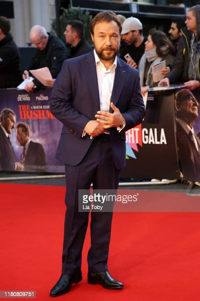 Stephen Graham attends The Irishman International Premiere and Closing Gala during the 63rd BFI London Film Festival at the Odeon Luxe Leicester...