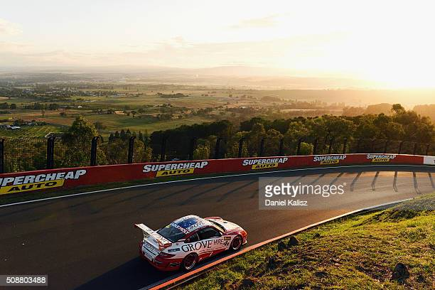 Stephen Grove drives the Grove Hire Porsche 997 GT3 Cup during the Bathurst 12 Hour Race at Mount Panorama on February 7 2016 in Bathurst Australia