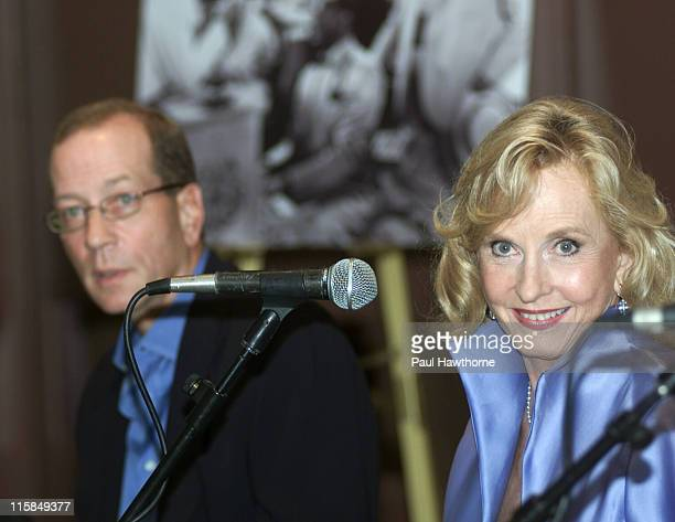"""Stephen H. Bogart and Pia Lindstrom during """"Casablanca"""" 60th Anniversary Event - Press Conference at Alice Tully Hall, Lincoln Center in New York..."""
