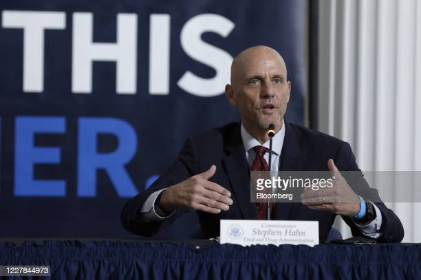 Stephen Hahn, commissioner of food and drugs at the U.S. Food and Drug Administration , speaks during a roundtable discussion at the American Red...