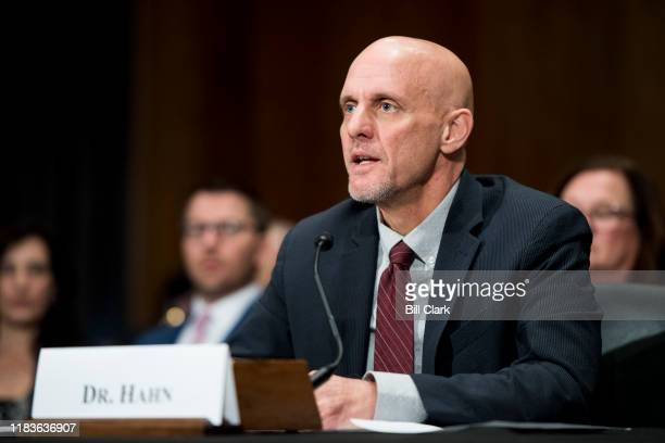 Stephen Hahn nominee to be commissioner of the Food and Drug Administration testifies during his confirmation hearing in the Senate Health Education...