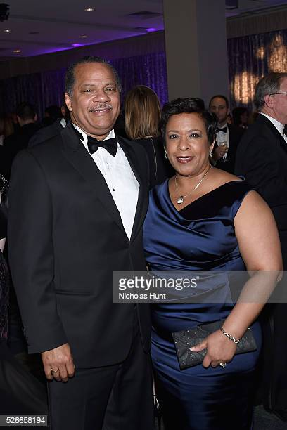 Stephen Hargrove and Attorney General of the United States Loretta Lynch attend the Yahoo News/ABC News White House Correspondents' Dinner PreParty...