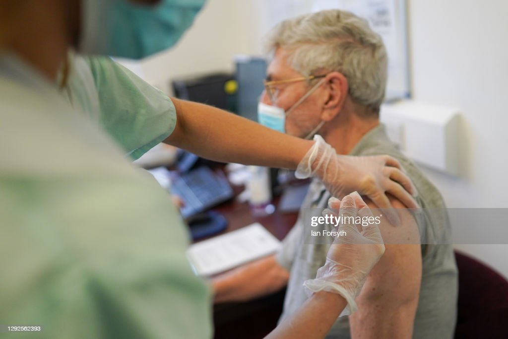 Vaccine Rollout Continues In GPs' Surgeries Across The UK : News Photo