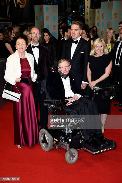 Stephen Hawking and Jane Wilde Hawking attend the EE British Academy Film Awards at The Royal Opera House on February 8 2015 in London England