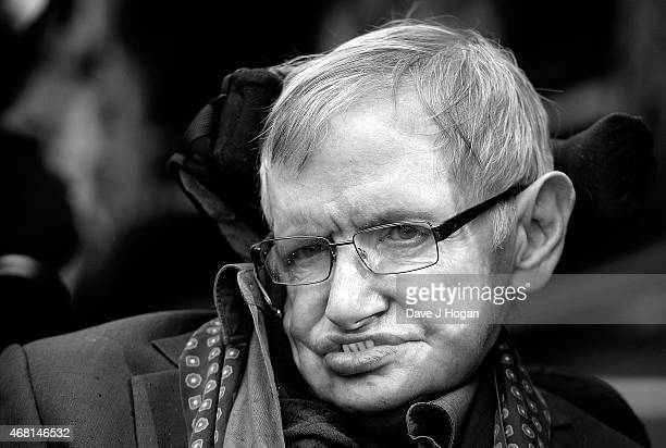 Stephen Hawking attends 'Interstellar Live' at Royal Albert Hall on March 30 2015 in London England