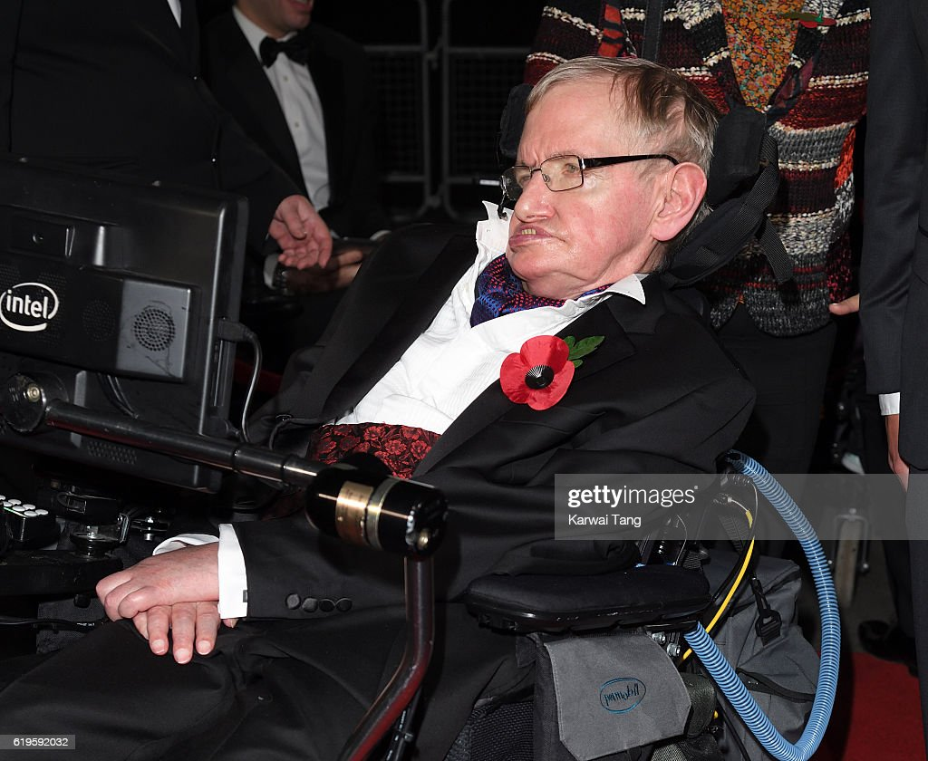 Stephen Hawking attends the Pride Of Britain Awards at The Grosvenor House Hotel on October 31, 2016 in London, England.