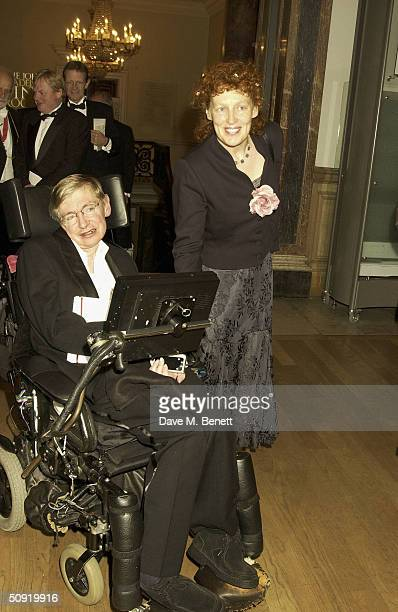 Stephen Hawking attends the Royal Academy Annual Dinner at the Royal Academy Of Arts on June 2 2004 in London The event previews world's largest open...