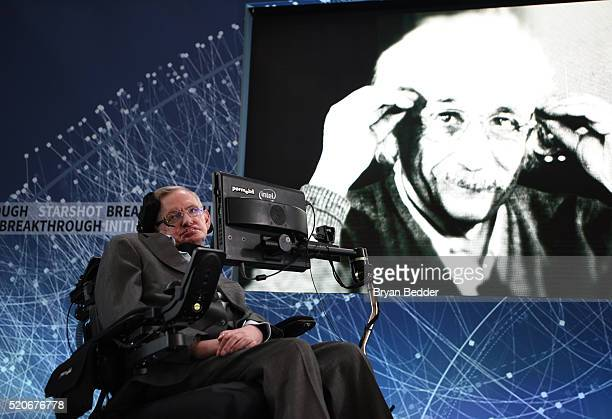 Stephen Hawking CH CBE FRS Dennis Stanton Avery and Sally Tsui WongAvery Director of Research University of Cambridge as he and Yuri Milner host...