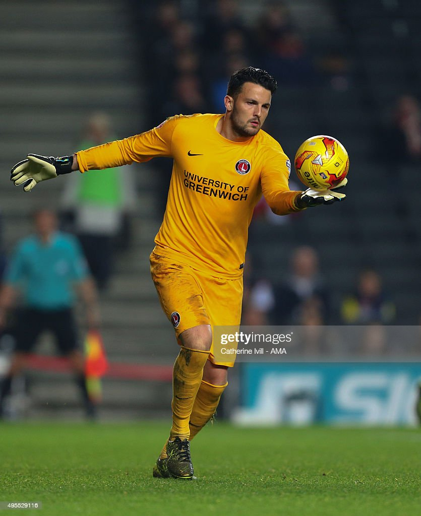 Stephen Henderson of Charlton Athletic during the Sky Bet Championship match between MK Dons and Charlton Athletic at Stadium mk on November 3, 2015 in Milton Keynes, United Kingdom.