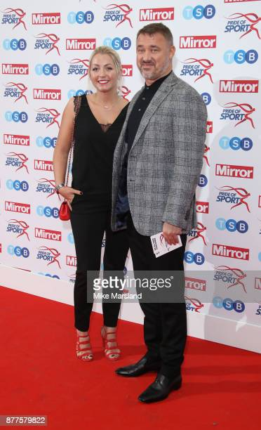Stephen Hendry and Lauren Thundow attend the Pride of Sport awards at Grosvenor House on November 22 2017 in London England