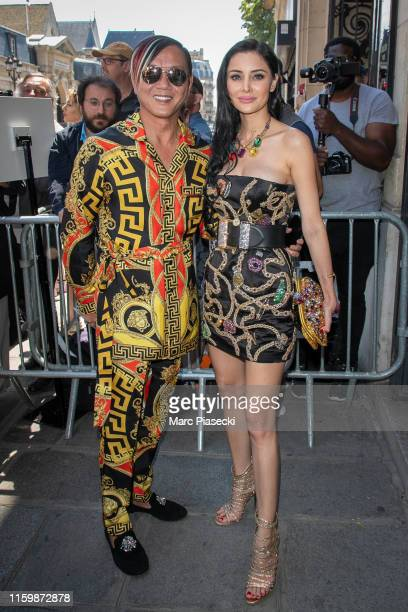 Stephen Heung and Deborah Valdez attend the Jean Paul Gaultier Haute Couture Fall/Winter 2019 2020 show as part of Paris Fashion Week on July 03 2019...
