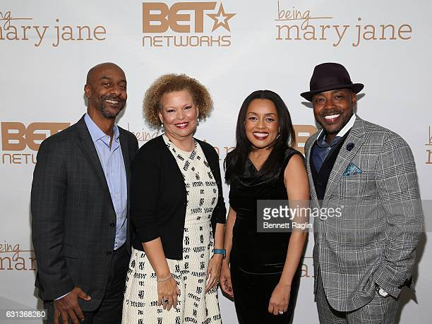 Stephen Hill Debra Lee Erica Shelton Will Packer attend the Being Mary Jane premiere screening and party on January 9 2017 in New York City