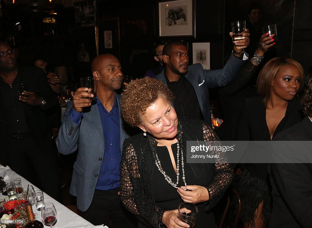 Stephen Hill, Debral Lee and (back) Hen Roc attend Trey Songz 30th Birthday Celebration at The Lion on December 1, 2014 in New York City.