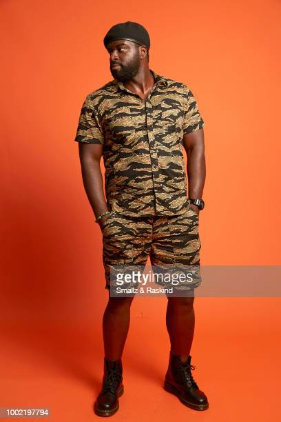 Stephen Hill from CBS's 'Magnum PI' poses for a portrait in the Getty Images Portrait Studio powered by Pizza Hut at San Diego 2018 Comic Con at...